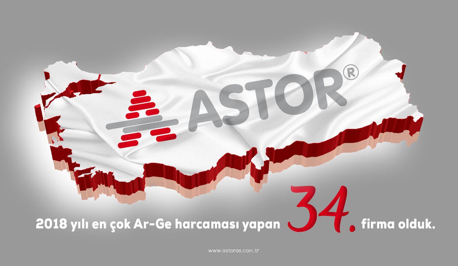 ASTOR 2018 yılı en çok Ar-Ge harcaması yapan 34. firma olduk.